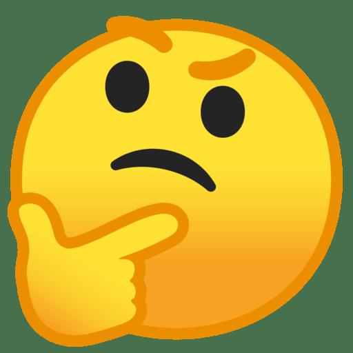thinking face emoji thinking