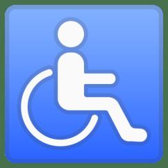 Wheelchair Emoji Wooden Beach Chair Symbol Google Android 9 0 Pie