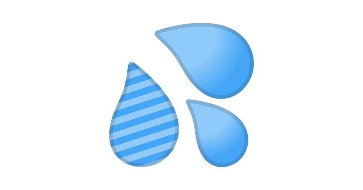 sweat droplets emoji