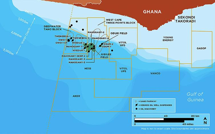 Oil fields off Ghana