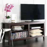 """WE Furniture 58"""" Wood TV Stand Storage Console,"""