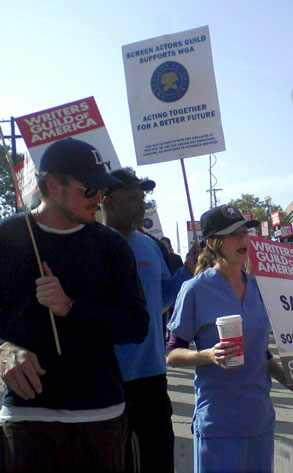 Ellen Pompeo, Writers' Strike