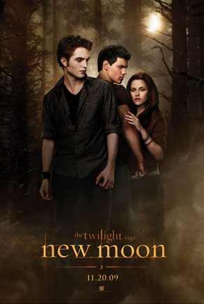 New Moon teaser Poster, Robert Pattinson, Taylor Lautner, Kristen Stewart