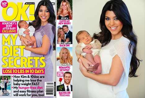 Kourtney Kardashian, Mason, OK! Cover