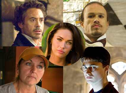 Robert Downey Jr, Sherlock Holmes, Heath Ledger, Imaginarium, Daniel Radcliffe, Harry Potter, The Last Ruck, Megan Fox, Transformers