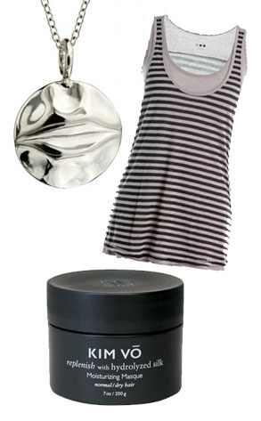 Ippolita Charm Necklace, Three Dots Tank, Kim Vo Mask
