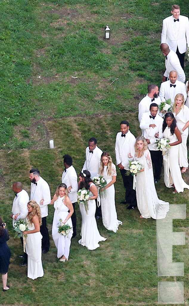 Wedding Party from Ashlee Simpson and Evan Ross Wedding Photos  E News