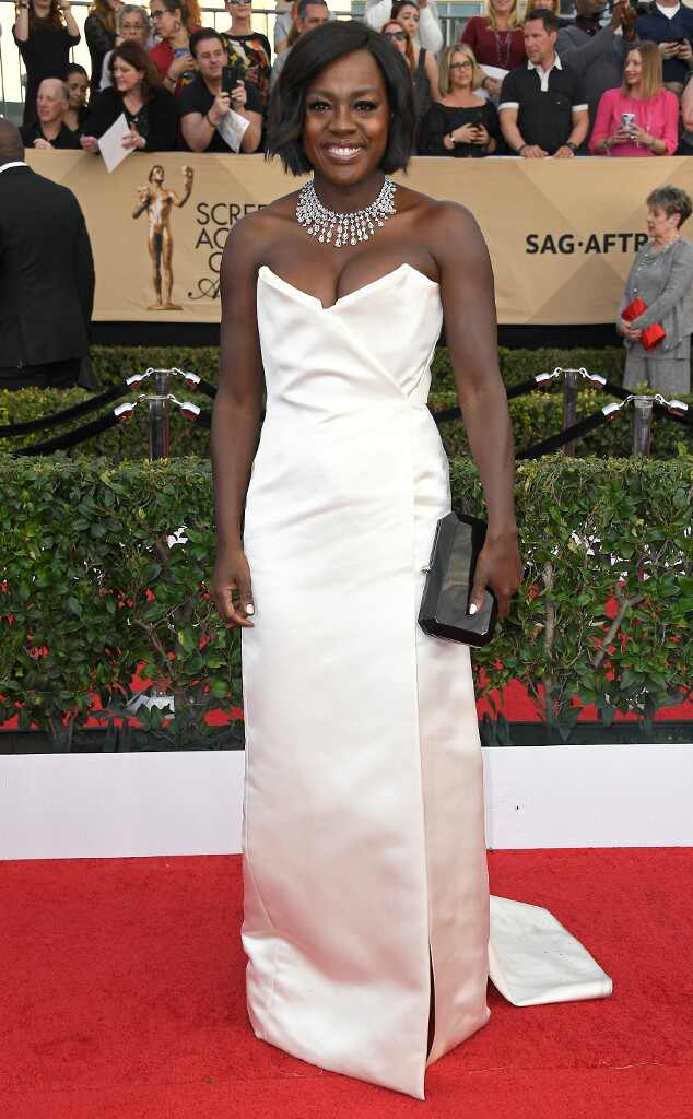 2017 SAG Awards: Red Carpet Arrivals Viola Davis, 2017 SAG Awards, Arrivals
