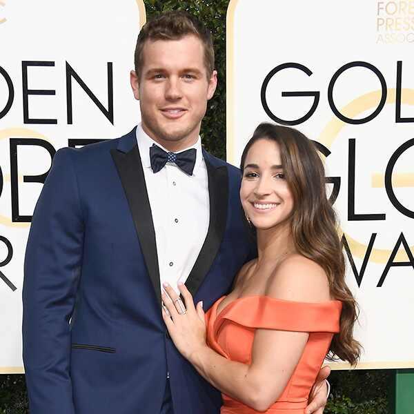 Colton Underwood, Aly Raisman, 2017 Golden Globes, Couples