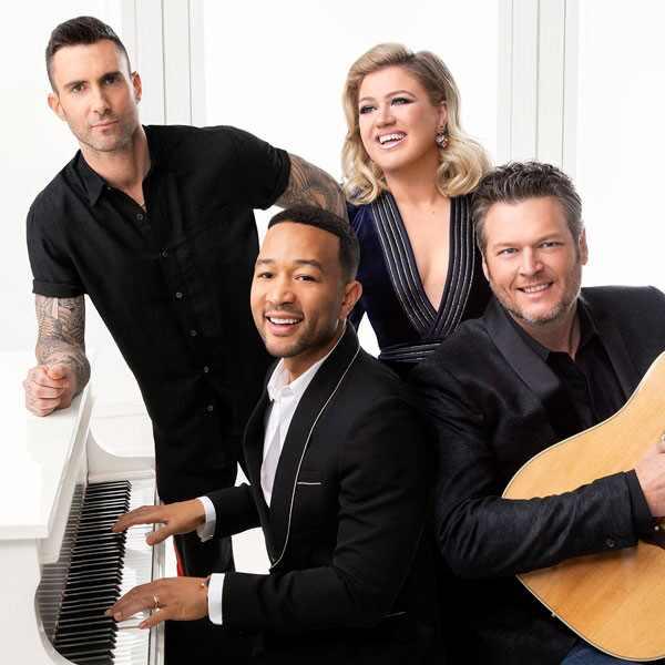 Adam Levine, Kelly Clarkson, John Legend, Blake Shelton
