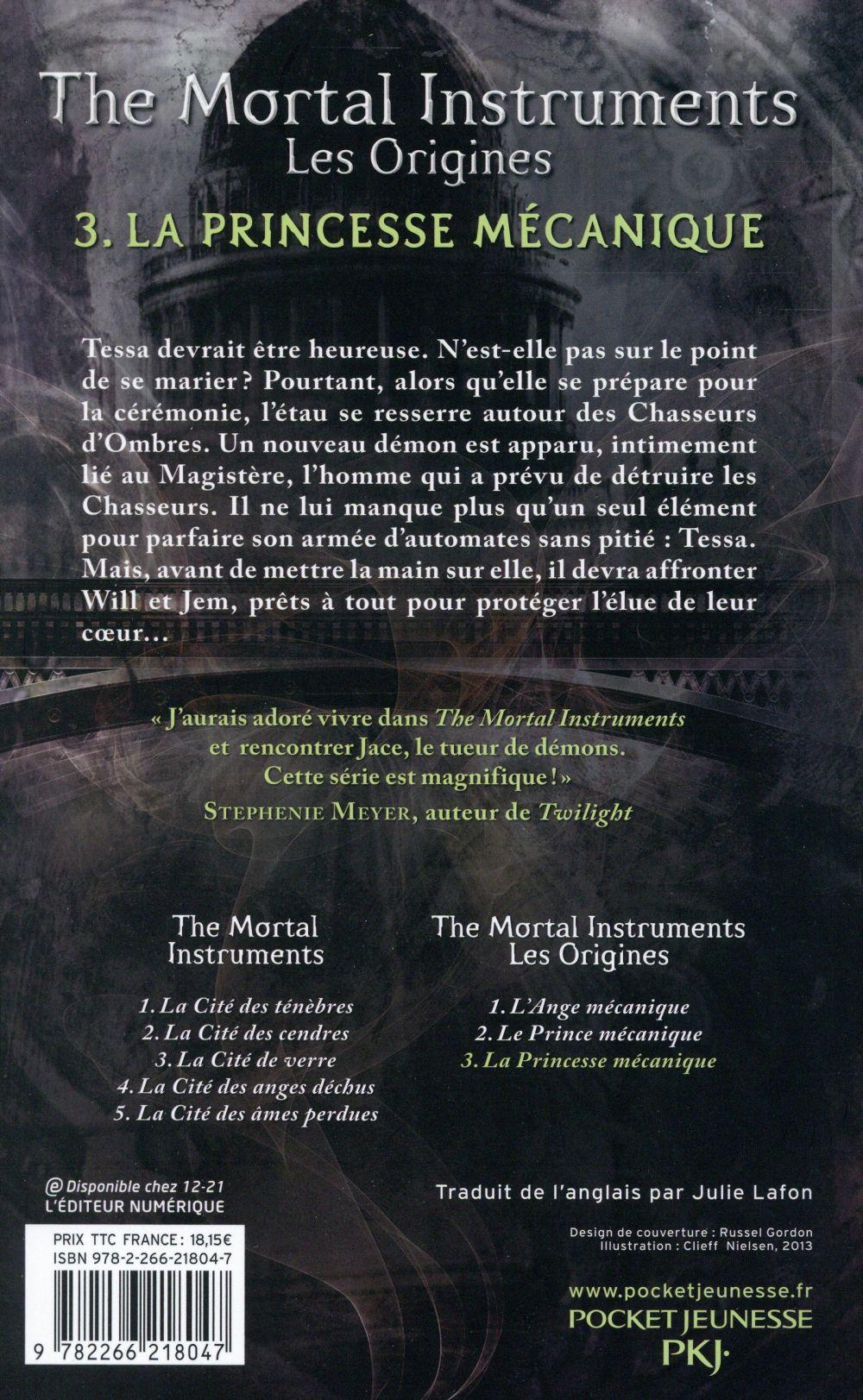The Mortal Instruments Les Origines : mortal, instruments, origines, Mortal, Instruments, Origines, Princesse, Mécanique, Cassandra, Clare, Pocket, Jeunesse, Grand, Format, Livre, NANCY