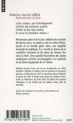 Federico Garcia Lorca Poèmes En Français : federico, garcia, lorca, poèmes, français, Romancero, Gitan, Federico, García, Lorca, Points, Poche, Place, Libraires