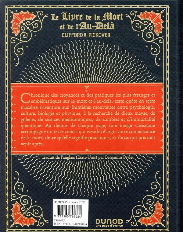 Le Livre De La Mort : livre, Livre, L'au-delà, Thanatos, Résurrection, Quantique, Clifford, Pickover, Dunod, Grand, Format, NANCY