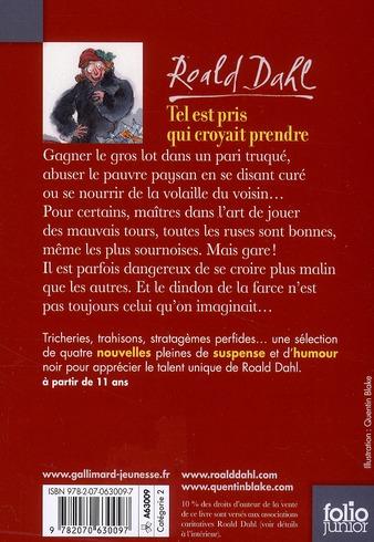 Tel Est Prit Qui Croyait Prendre : croyait, prendre, Croyait, Prendre, Roald, Gallimard-jeunesse, Poche, Librairie, Gallimard, PARIS