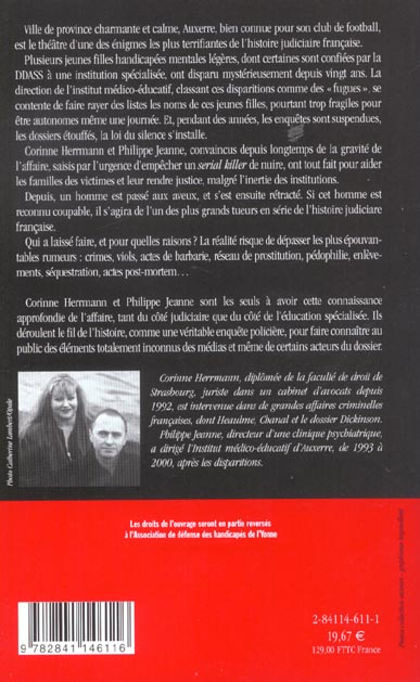 Les Disparues De L Yonne : disparues, yonne, Disparues, Yonne, Hermann/Corinne, Ramsay, Grand, Format, Livre, NANCY