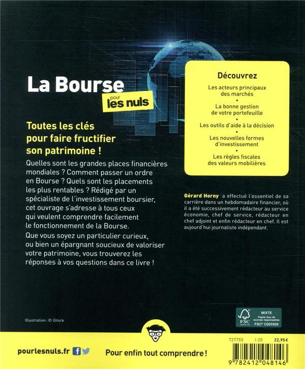 La Bourse Pour Les Nuls : bourse, Bourse, édition), Gérard, Horny, First, Grand, Format, Librairies, Nouveautés, Guetteurs