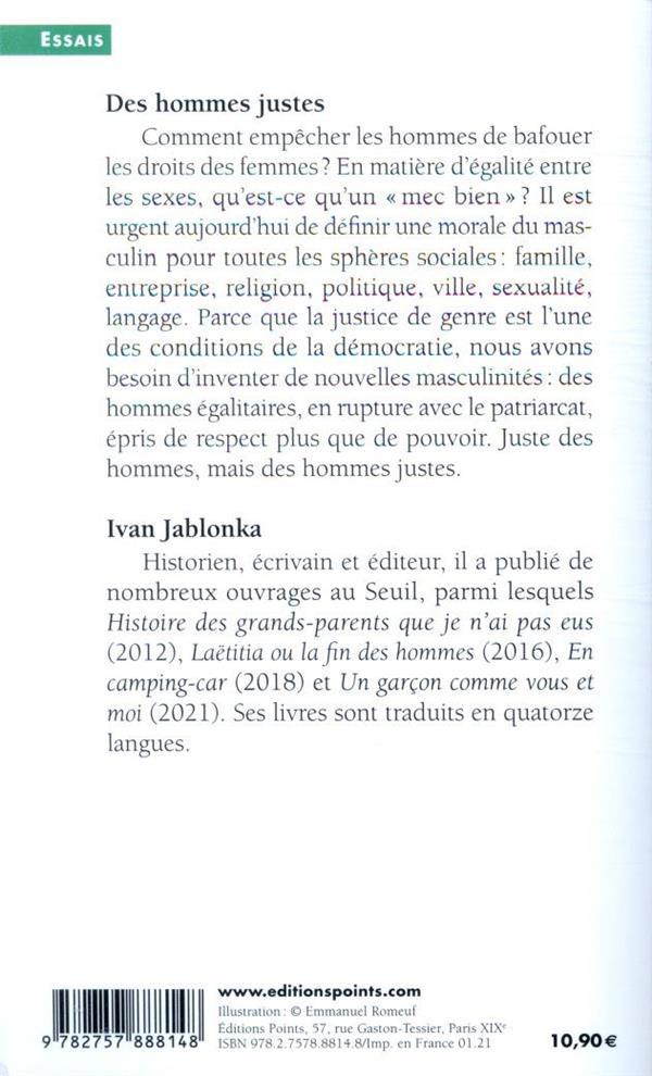 Ivan Jablonka Des Hommes Justes : jablonka, hommes, justes, Hommes, Justes, Patriarcat, Nouvelles, Masculinités, Jablonka, Points, Poche, L'Autre, TOULOUSE