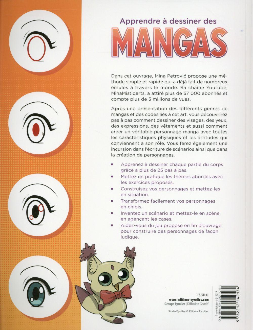 Apprendre A Dessiner Manga Pas A Pas : apprendre, dessiner, manga, Apprendre, Dessiner, Mangas, Petrovic, Eyrolles, Grand, Format, Livre, NANCY
