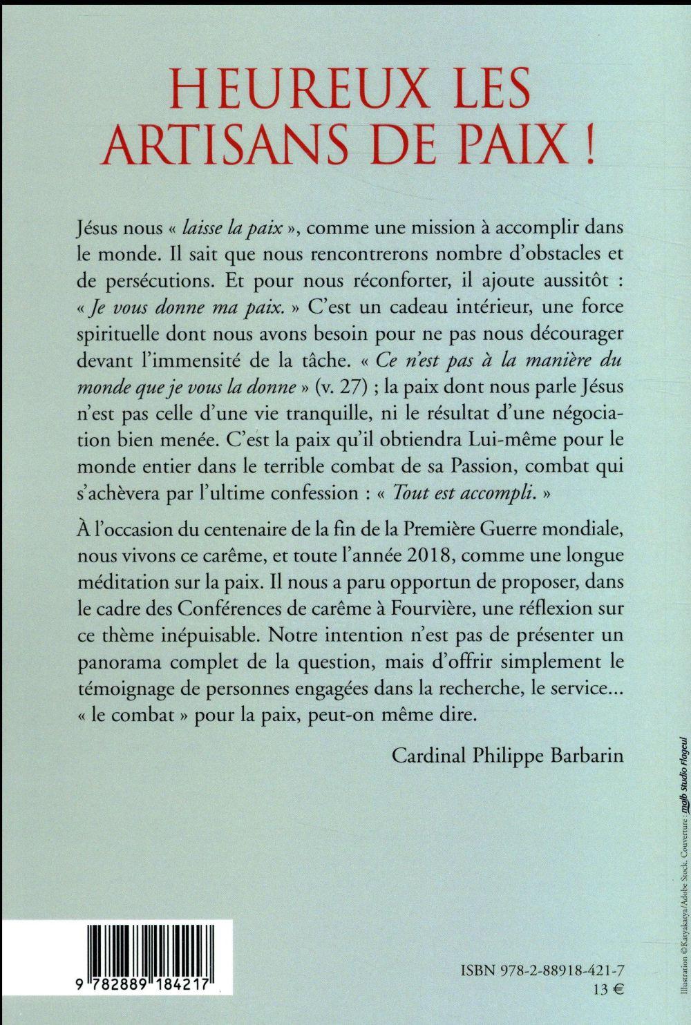 Heureux Les Artisans De Paix : heureux, artisans, Heureux, Artisans, Philippe, Barbarin, Parole, Silence, Grand, Format, Livre, NANCY
