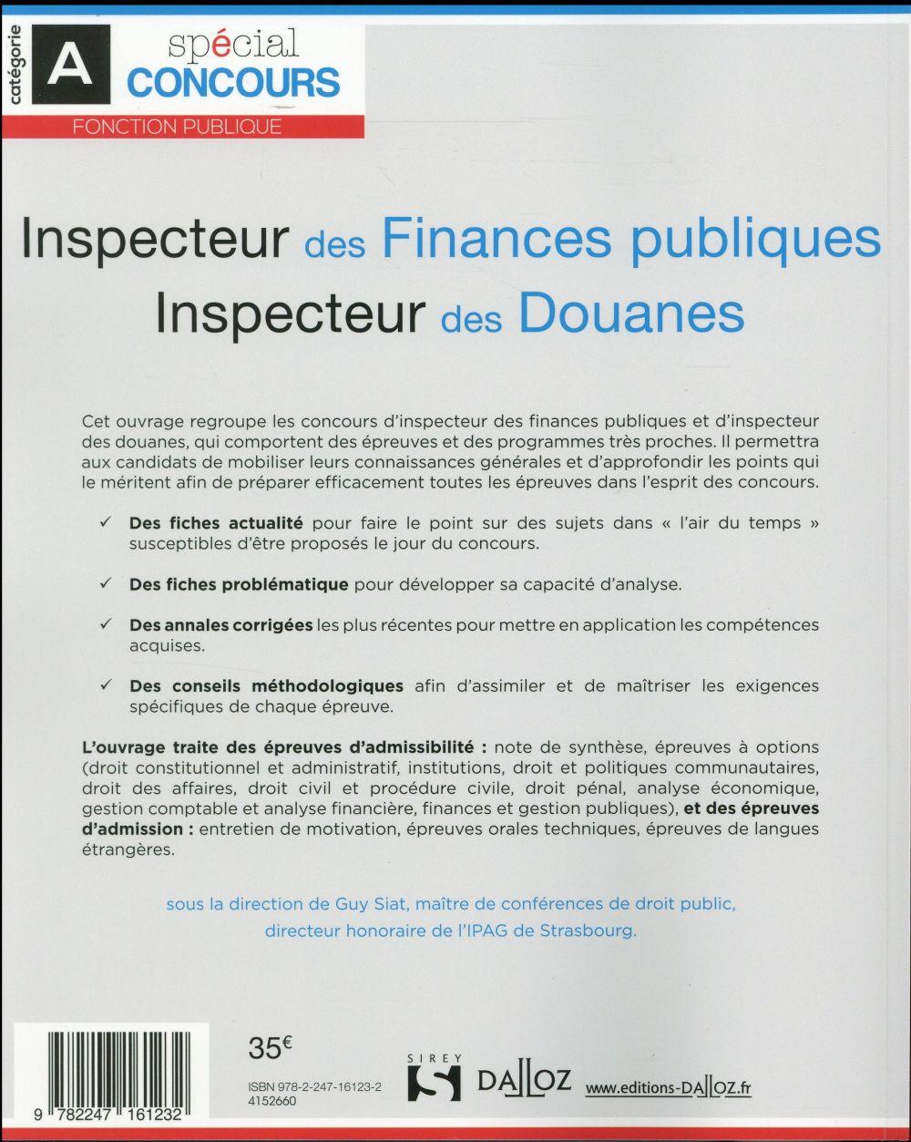 Inspecteur Des Finances Publiques Concours : inspecteur, finances, publiques, concours, Inspecteur, Finances, Publiques, Douanes, édition), Siat-G, Dalloz, Grand, Format, Librairie, PARIS