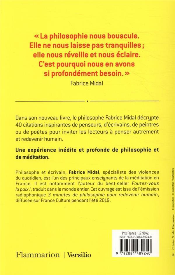 3 Minutes De Philosophie Pour Redevenir Humain : minutes, philosophie, redevenir, humain, Minutes, Philosophie, Redevenir, Humain, Fabrice, Midal, Flammarion, Grand, Format, Place, Libraires