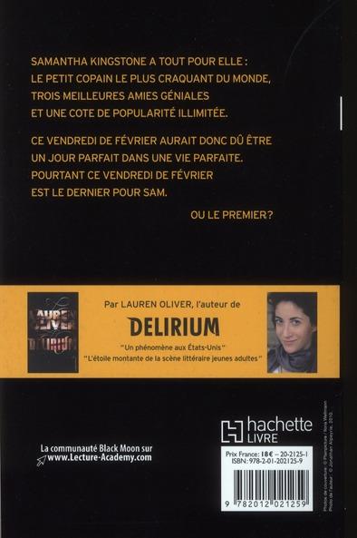 Le Dernier Jour De Ma Vie Livre : dernier, livre, Dernier, Lauren, Oliver, Black, Grand, Format, Librerit, Carouge