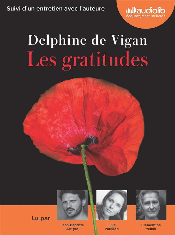 Les Gratitudes Delphine De Vigan : gratitudes, delphine, vigan, Gratitudes, Delphine, Vigan, Audiolib, Audio, Livre, NANCY