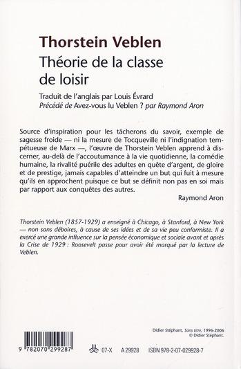 Théorie De La Classe De Loisir : théorie, classe, loisir, Theorie, Classe, Loisir, Thorstein, Veblen, Gallimard, Grand, Format, Librairie, PARIS