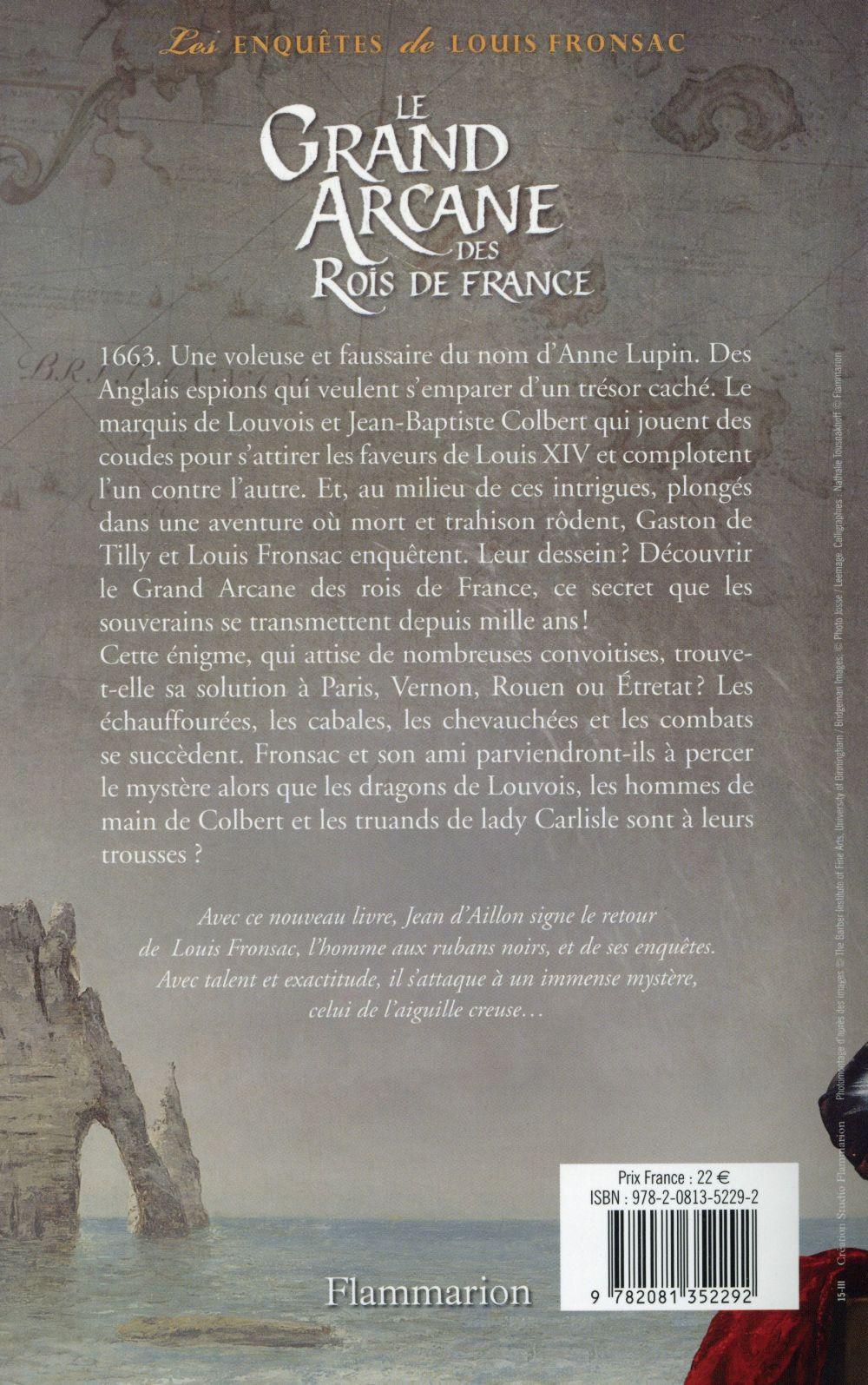 Le Grand Arcane Des Rois De France : grand, arcane, france, Enquêtes, Louis, Fronsac, Grand, Arcane, France, Aillon, Flammarion, Format, Place, Libraires