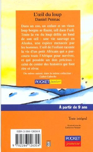 L'oeil Du Loup Daniel Pennac : l'oeil, daniel, pennac, L'oeil, Daniel, Pennac, Pocket, Jeunesse, Poche, Librairie, Gallimard, PARIS