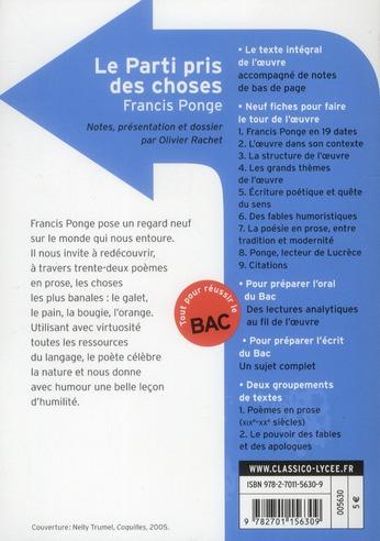 Francis Ponge Le Parti Pris Des Choses : francis, ponge, parti, choses, Parti, Choses, Francis, Ponge, Belin, Education, Poche, Librairie, Paris, PARIS
