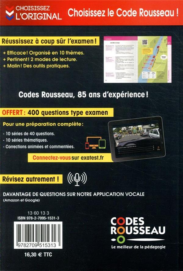 Code De La Route Rousseau : route, rousseau, Rousseau, Route, (édition, 2021), Collectif, Codes, Grand, Format, Place, Libraires