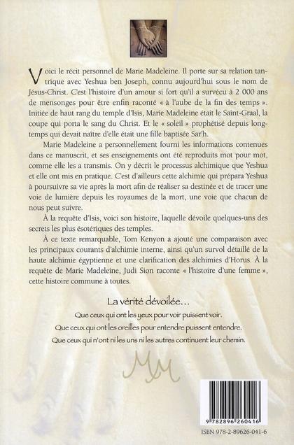 Le Manuscrit De Marie Madeleine : manuscrit, marie, madeleine, Manuscrit, Marie-Madeleine, Alchimies, D'Horus, Magie, Sexuelle, D'Isis, Kenyon,, Ariane, Grand, Format, Livre, NANCY