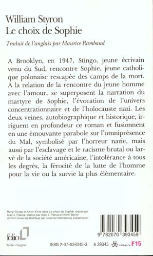 Le Choix De Sophie Livre : choix, sophie, livre, Choix, Sophie, William, Styron, Gallimard, Poche, Livre, NANCY