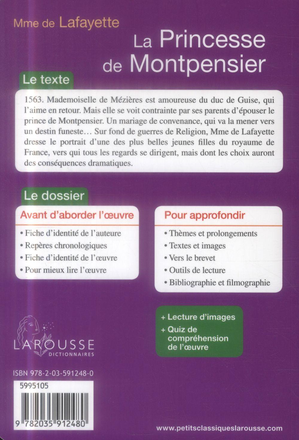 Quiz La Princesse De Montpensier : princesse, montpensier, Princesse, Montpensier, Madame, Fayette, Larousse, Poche, Livre, NANCY