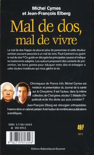 Michel Cymes Mal De Dos : michel, cymes, Vivre, Michel, Cymes, Jacob-duvernet, Grand, Format, Livre, NANCY