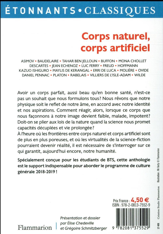 Citation Corps Naturel Corps Artificiel : citation, corps, naturel, artificiel, Corps, Naturel,, Artificiel, 2018-2019, Collectif, Flammarion, Poche, Librairie, Divan, PARIS