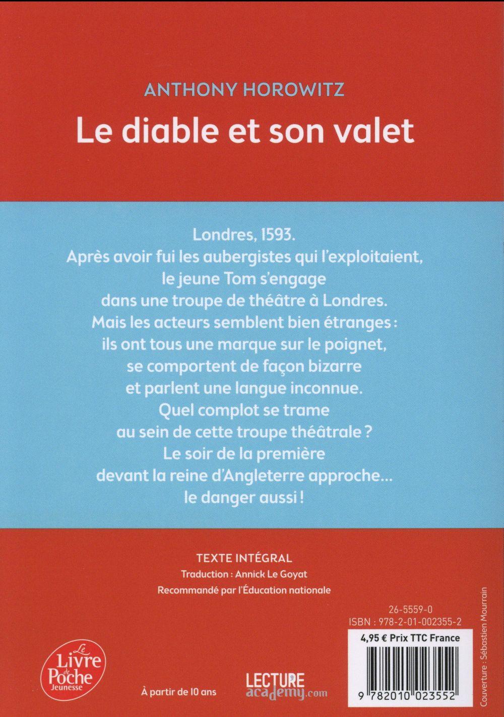 Le Diable Et Son Valet : diable, valet, Diable, Valet, Anthony, Horowitz, Hachette, Jeunesse, Poche