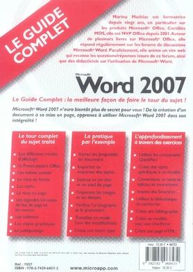 Microsoft Word 2007 Gratuit Complet : microsoft, gratuit, complet, Marina, Mathias, Micro, Application, Grand, Format, Livre, NANCY