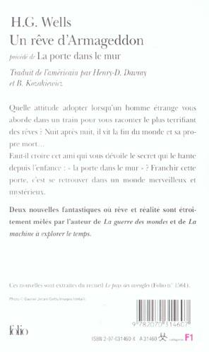 Rever De La Fin Du Monde : rever, monde, Rêve, D'Armageddon, Porte, Herbert, George, Wells, Gallimard, Poche, Livre, NANCY