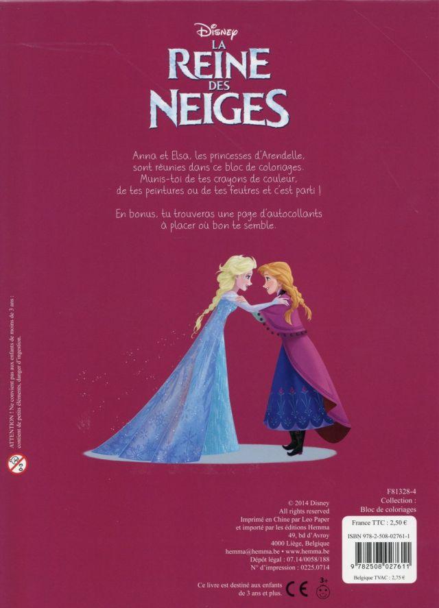 La Reine des Neiges ; bloc de coloriages avec stickers - Disney