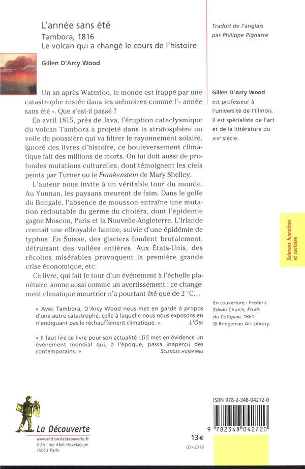 Tambora L'éruption Qui A Changé Le Monde : tambora, l'éruption, changé, monde, L'année, été, Tambora,, Volcan, Changé, Cours, L'histoire, Gillen, D'Arcy, Decouverte, Poche, Librerit, Carouge