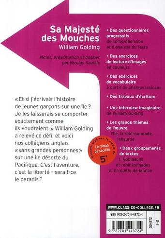 Sa Majesté Des Mouches Analyse : majesté, mouches, analyse, Majesté, Mouches, William, Golding,, Nicolas, Saulais, Belin, Education, Poche, Livre, NANCY