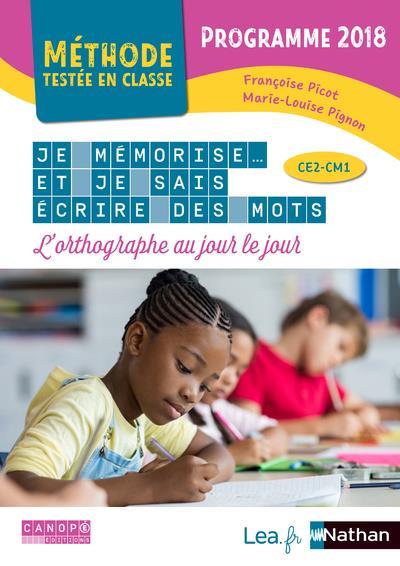 Je Mémorise Et Je Sais écrire Des Mots Ce2 Cm1 : mémorise, écrire, Mémorise, (édition, 2020), Françoise, Picot,, Marie-Louise, Pignon, Nathan, Grand, Format, Livre, NANCY