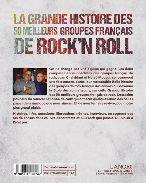 Meilleurs Groupes De Rock : meilleurs, groupes, Grande, Histoire, Meilleurs, Groupes, Français, Rock'n, Chalvidant,, Herve, Mouvet, Lanore, Grand, Format, Livre, NANCY
