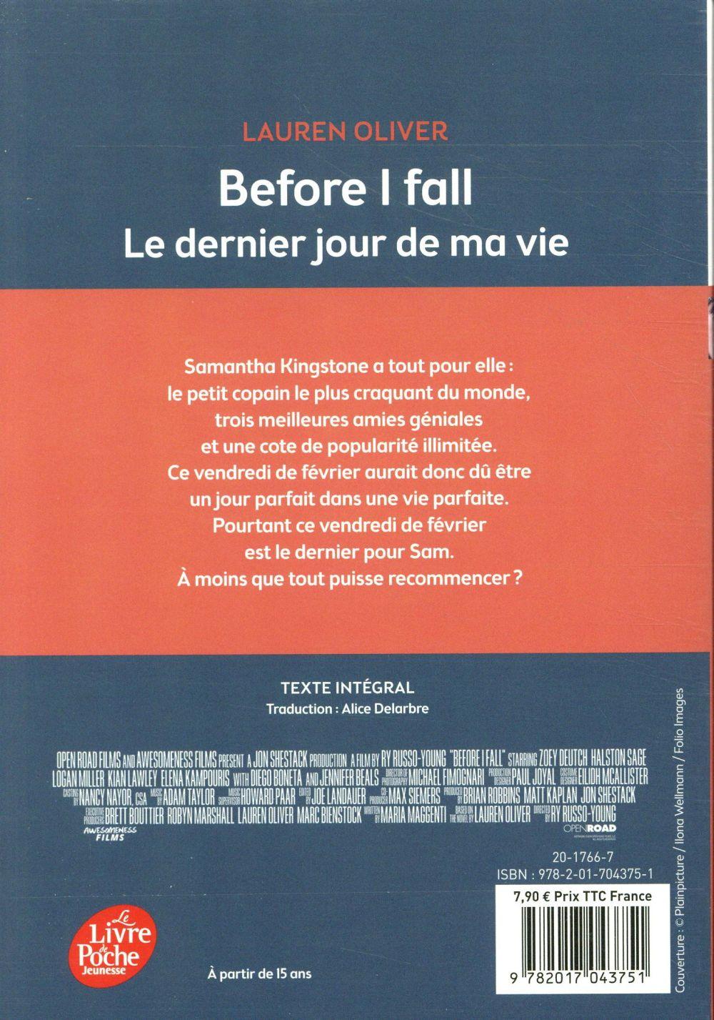 Le Dernier Jour De Ma Vie Livre : dernier, livre, Before, Dernier, Lauren, Oliver, Hachette, Jeunesse, Poche, Librairies, Anagramme