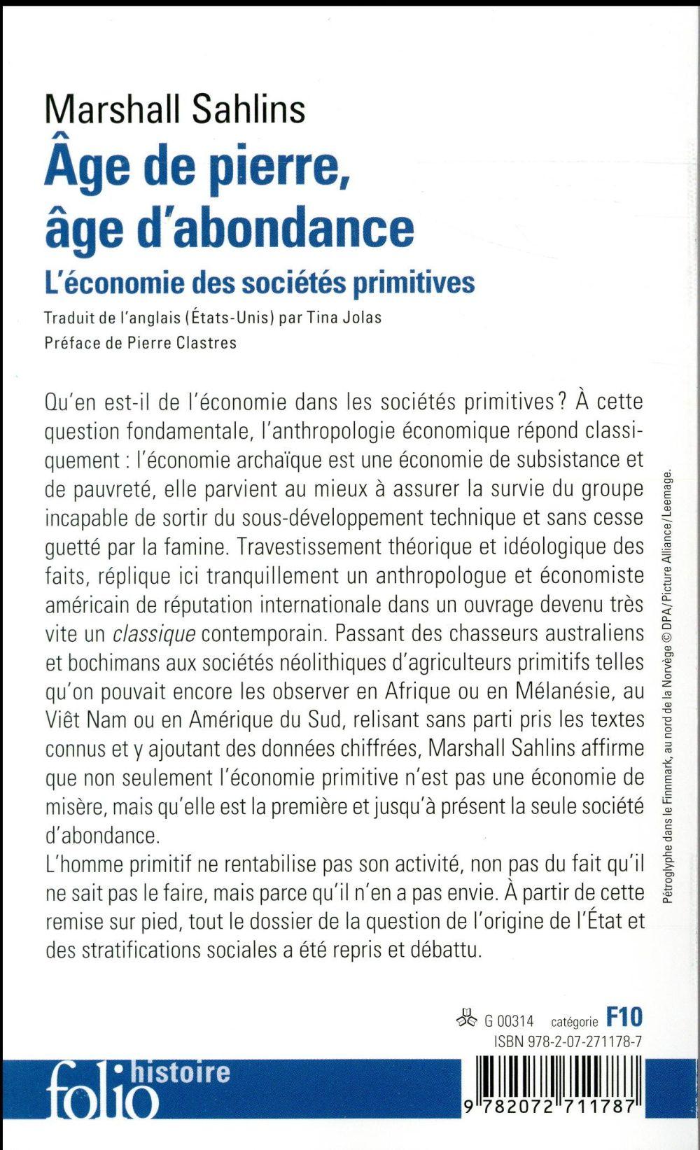 Age De Pierre Age D'abondance : pierre, d'abondance, Pierre,, D'abondance, L'économie, Sociétés, Primitives, Marshall, Sahlins, Gallimard, Poche, Librairie, PARIS