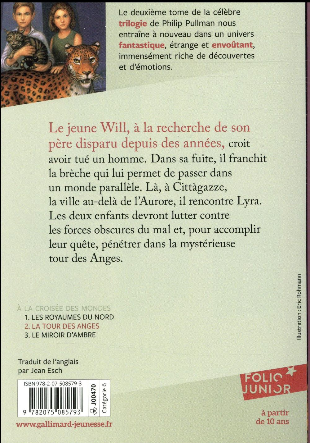 La Passe Miroir Tome 3 Poche : passe, miroir, poche, Croisée, Mondes, Anges, Philip, Pullman, Gallimard-jeunesse, Poche, Place, Libraires