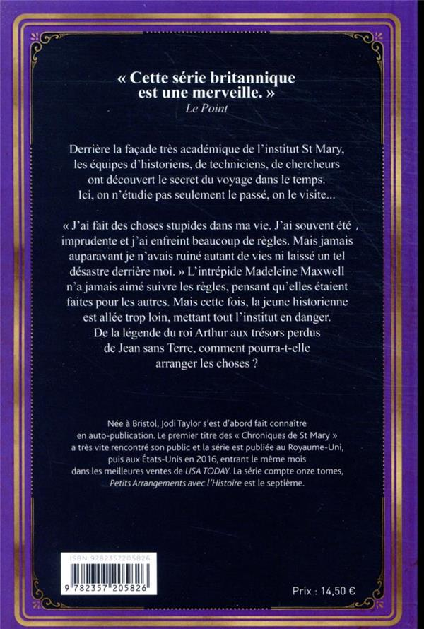 Les Chroniques De St Mary T.7 ; Petits Arrangements Avec L'histoire - Jodi  Taylor - Herve Chopin - Grand Format - Le Hall Du Livre NANCY