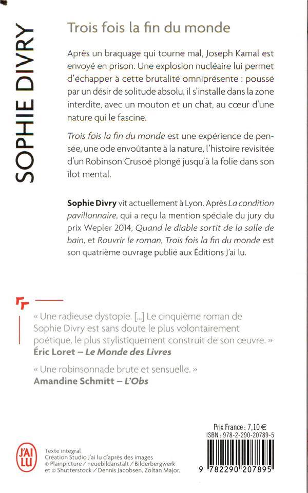 Trois Fois La Fin Du Monde : trois, monde, Trois, Monde, Sophie, Divry, Poche, Librairie, Femmes, PARIS